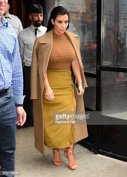 Kim Kardashian is seen in Soho on April 22 2015 in New York City