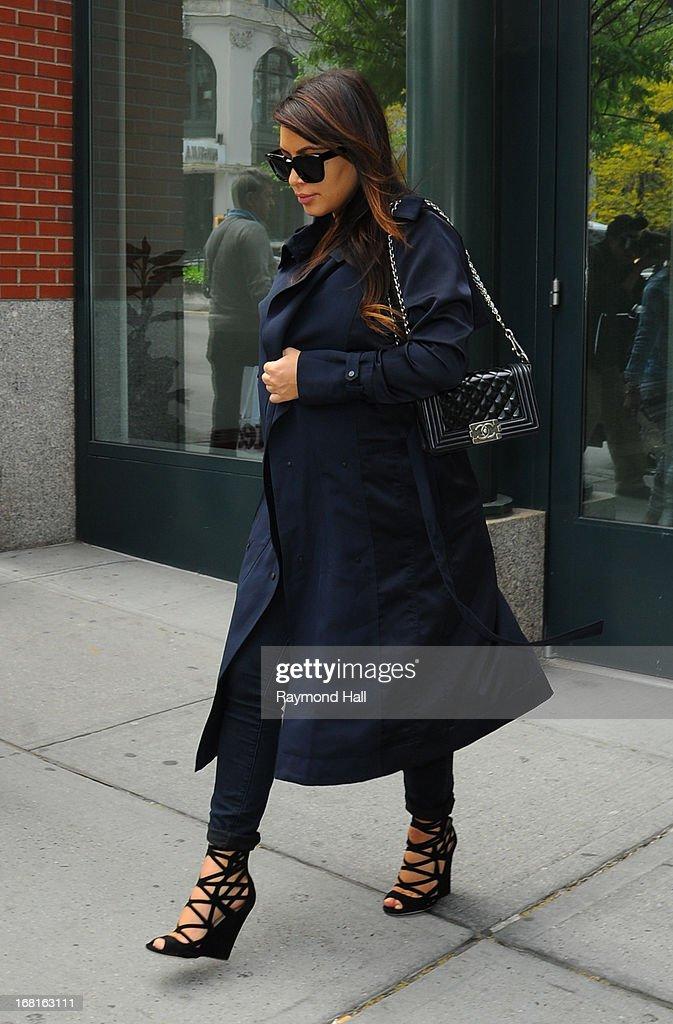 Kim Kardashian is seen in Soho on May 6, 2013 in New York City.