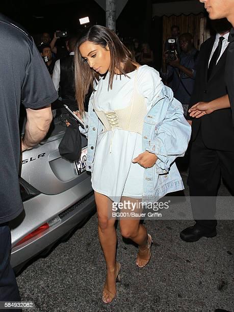 Kim Kardashian is seen on August 01 2016 in Los Angeles California