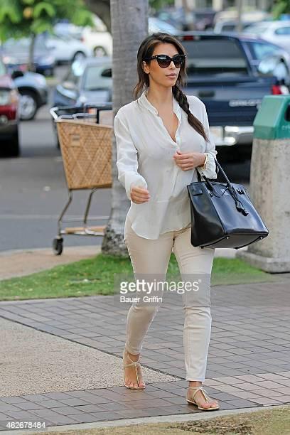 Kim Kardashian is seen on August 18 2012 in Honolulu Hawaii