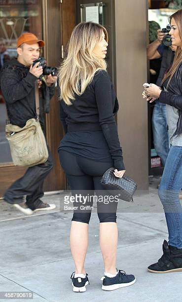 Kim Kardashian is seen on December 21 2013 in Los Angeles California