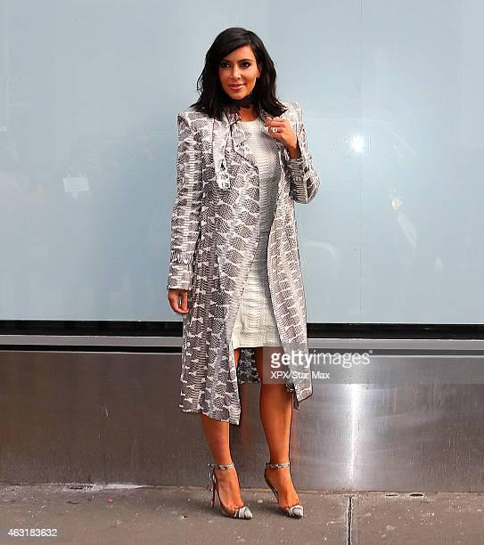 Kim Kardashian is seen on February 10 2015 in New York City