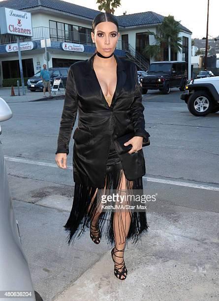 Kim Kardashian is seen on July 13 2015 in Los Angeles California