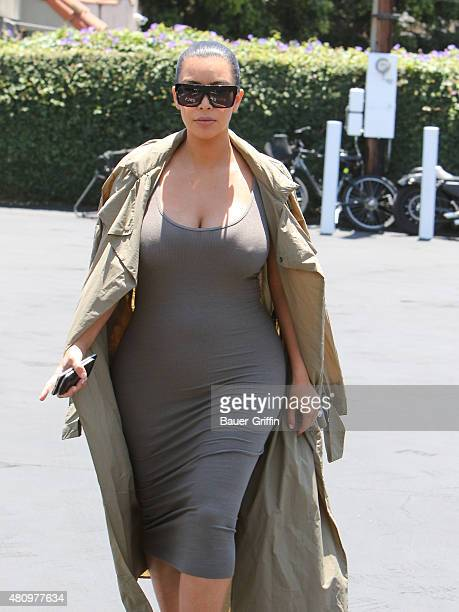 Kim Kardashian is seen on July 16 2015 in Los Angeles California