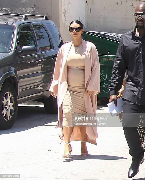 Kim Kardashian is seen on July 26 2015 in Los Angeles California