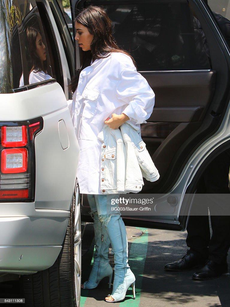 Kim Kardashian is seen on June 25, 2016 in Los Angeles, California.