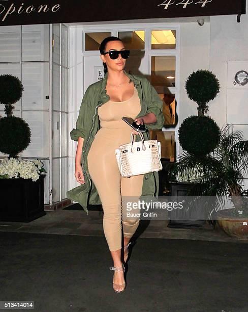Kim Kardashian is seen on March 02 2016 in Los Angeles California