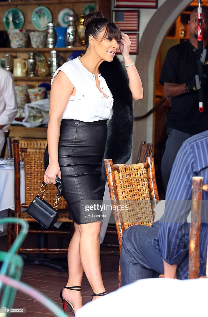 Kim Kardashian is seen on March 21, 2013 in Los Angeles, California.