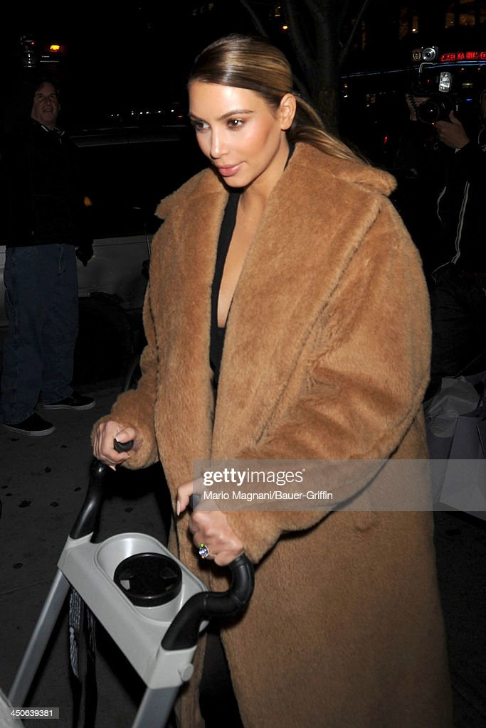 Kim Kardashian is seen on November 19, 2013 in New York City.