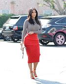 Kim Kardashian is seen on October 20 2014 in Los Angeles California