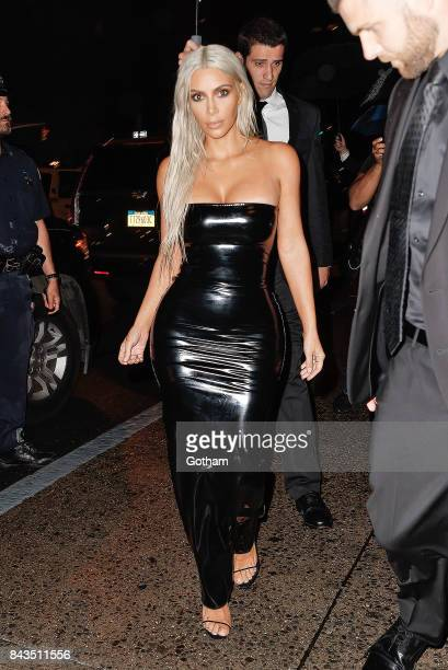 Kim Kardashian is seen outside the Tom Ford New York Fashion Week show on September 6 2017 in New York City