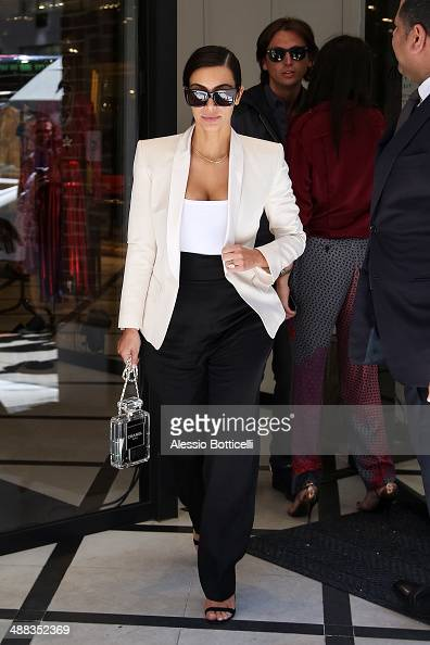 Kim Kardashian is seen shopping at Lanvin store on Madison Avenue on May 5 2014 in New York City