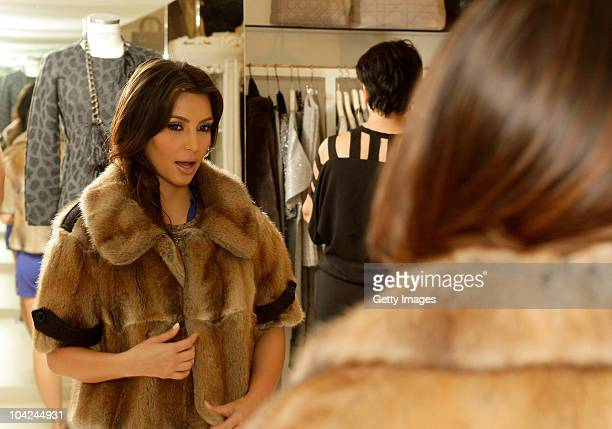 Kim Kardashian is seen shopping at the Grey Flanel shop on September 18 2010 in Capri Italy