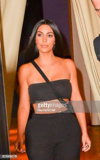 Kim Kardashian is seen walking in Soho on August 2 2017 in New York City