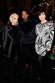 Kim Kardashian Kanye West and Kris Jenner attend the Balmain show as part of the Paris Fashion Week Womenswear Fall/Winter 2015/2016 on March 5 2015...