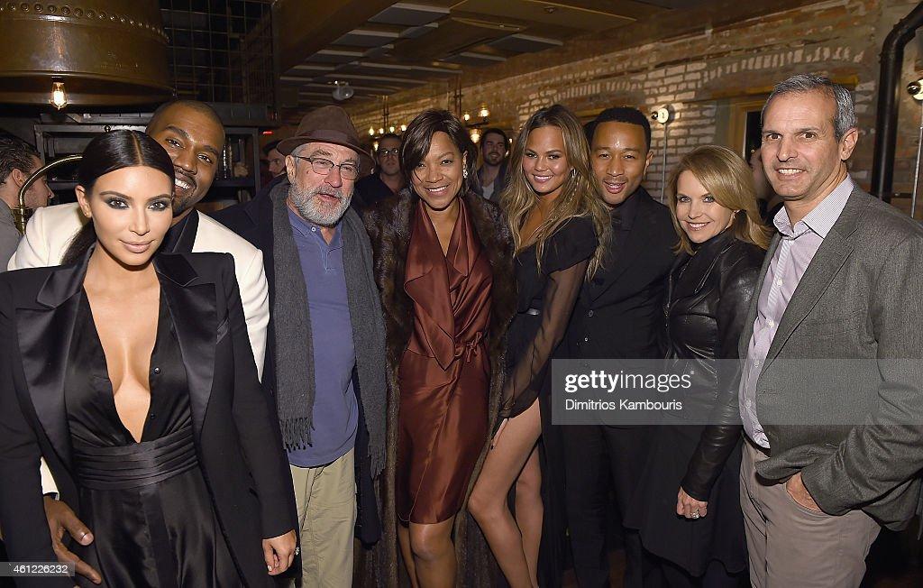 Kim Kardashian Kanye West Robert De Niro Grace Hightower Chrissy Teigen John Legend Katie Couric and John Molner attend John Legend Celebrates His...