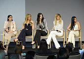 Kim Kardashian Khloé Kardashian Kendall Jenner Kylie Jenner and Kourtney Kardashian attend Apple Store Soho Presents Meet The Developers at Apple...