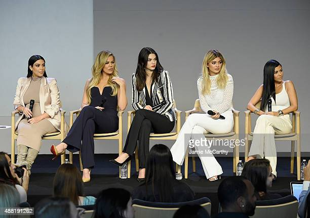 Kim Kardashian Khloé Kardashian Kendall Jenner Kylie Jenner and Kourtney Kardashian attend Apple Store Soho Presents Meet The Developers at Apple...