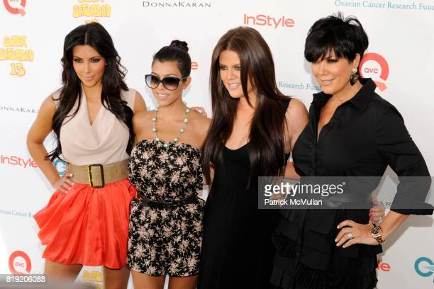 Kim Kardashian Kourtney Kardashian Khloe Kardashian and attend YUMMIE TUMMIE By Heather Thomson At Super Saturday at Nova's Ark Project on July 31...