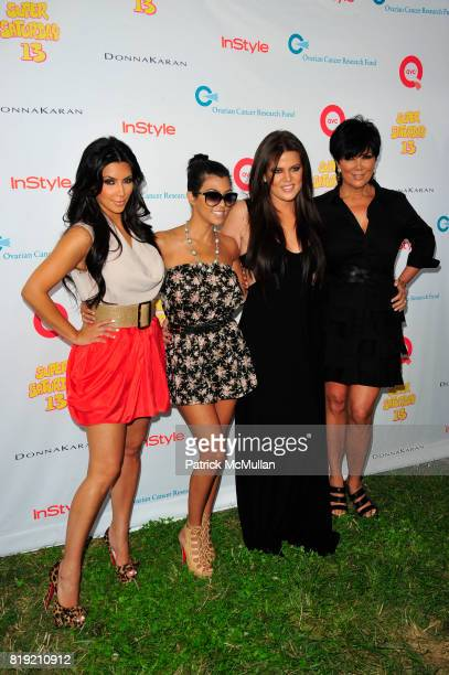 Kim Kardashian Kourtney Kardashian Khloe Kardashian and Kris Jenner attend Donna Karan Ariel Foxman InStyle Along With Kelly Ripa Ashley Greene...