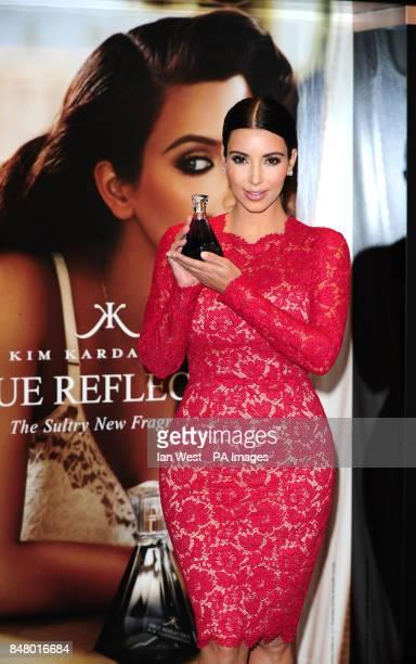 Kim Kardashian launches her new perfume exclusive to Debenhams called True Reflection in London