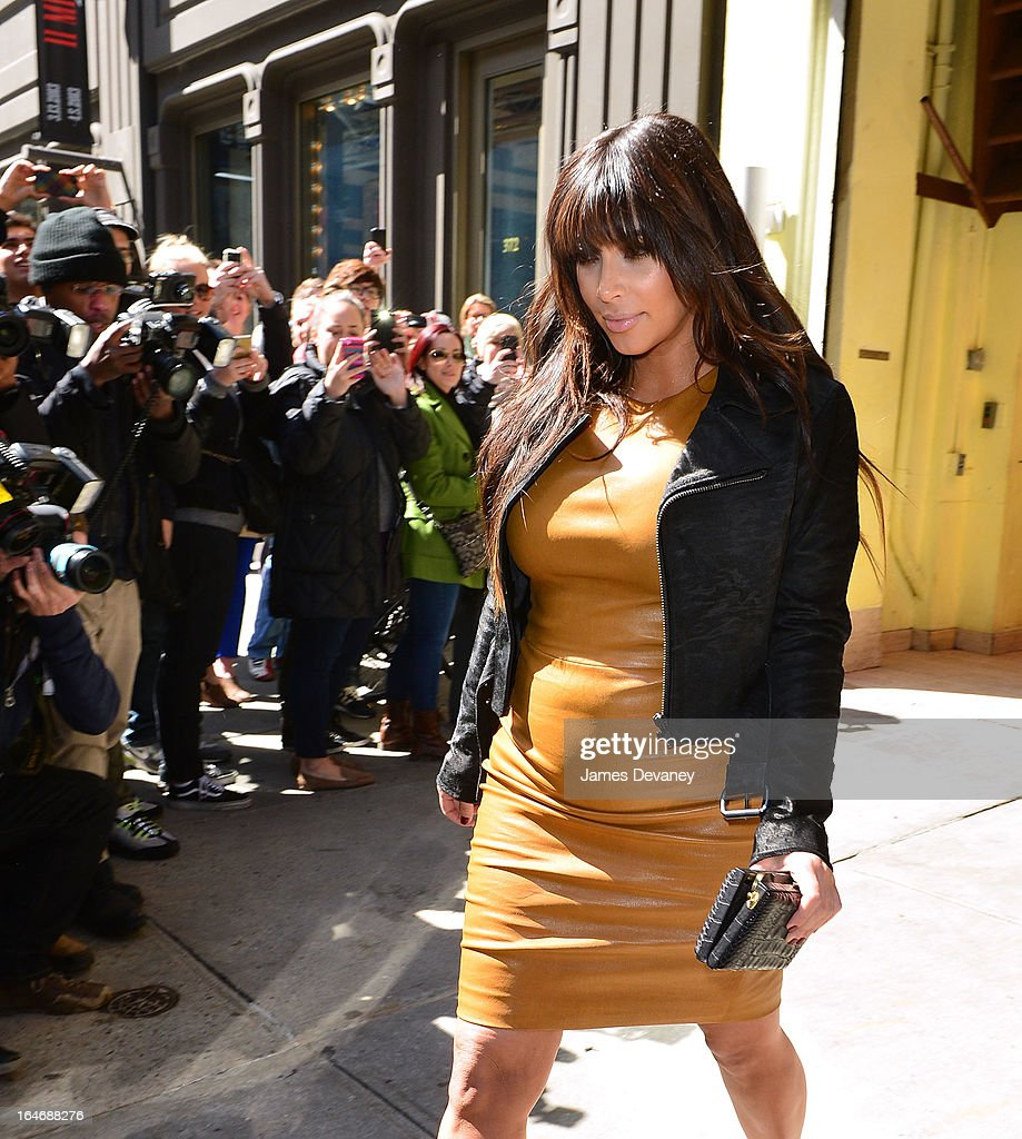 Kim Kardashian leaves Cipriani Downtown on March 26, 2013 in New York City.