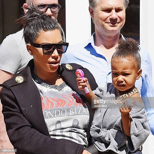 Kim Kardashian North West and DuJour Media Founder Jason Binn circa September 2015 in New York City