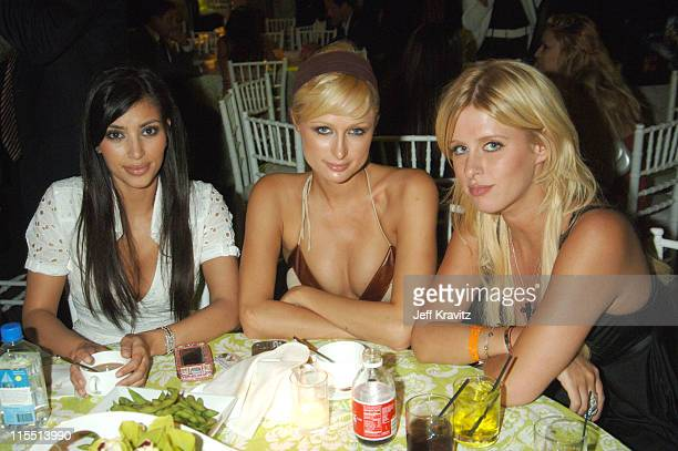 Kim Kardashian Paris Hilton and Nicky Hilton during 'Entourage' Season Premiere After Party at Cinerama Dome in Hollywood California United States