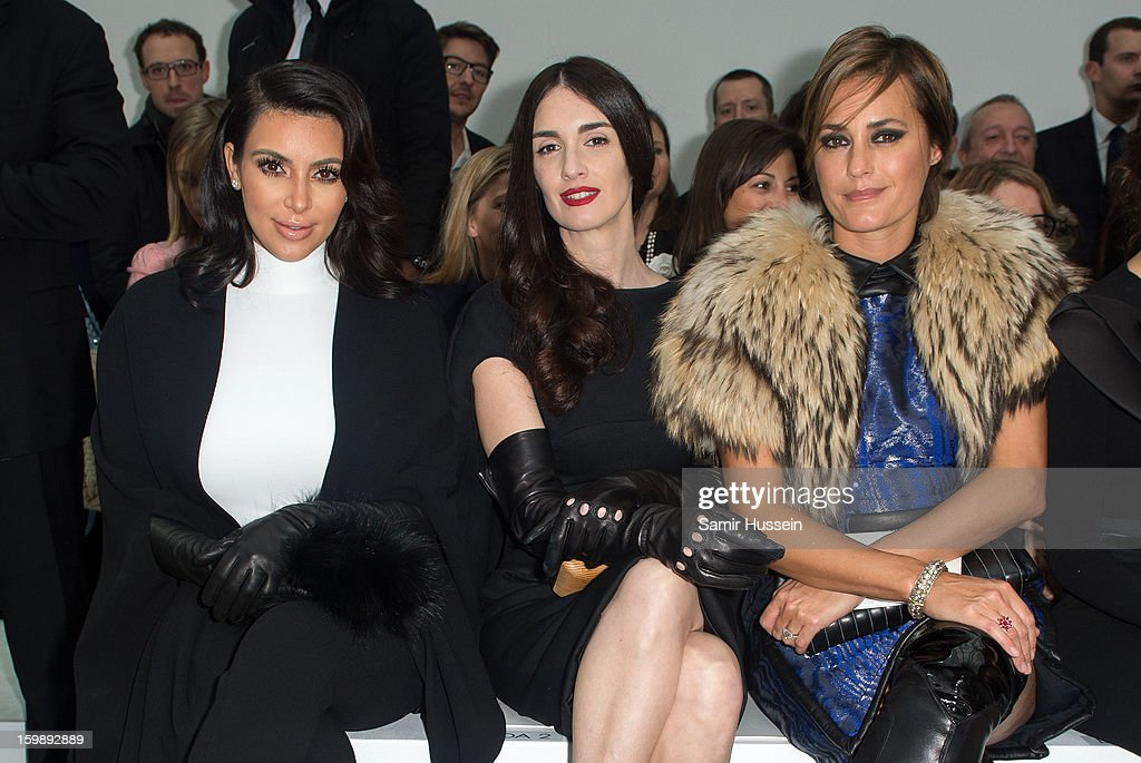 Kim Kardashian, Paz Vega and Yasmin Le Bon attend the Stephane Rolland Spring/Summer 2013 Haute-Couture show as part of Paris Fashion Week at Palais De Tokyo on January 22, 2013 in Paris France.