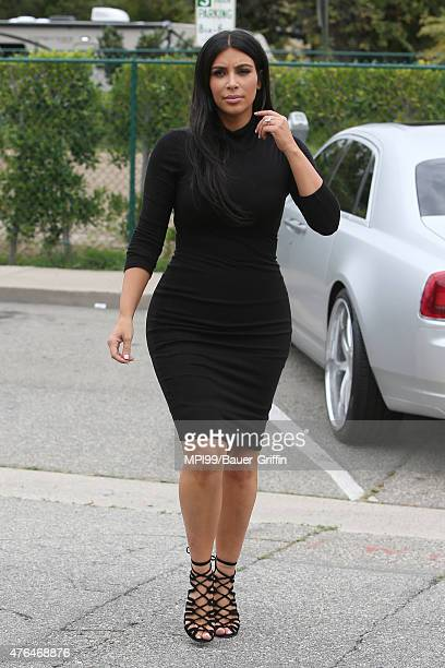 Kim Kardashian seen at Barneys New York on June 09 2015 in Los Angeles California