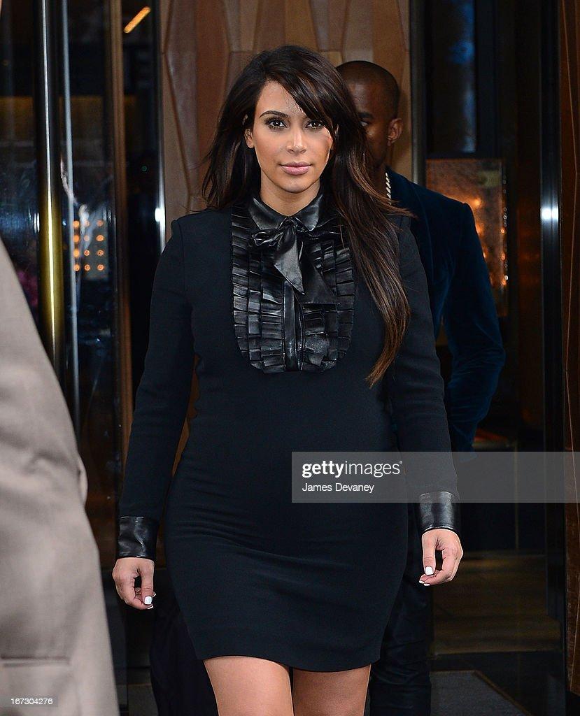 Kim Kardashian seen on the streets of Manhattan on April 23, 2013 in New York City.