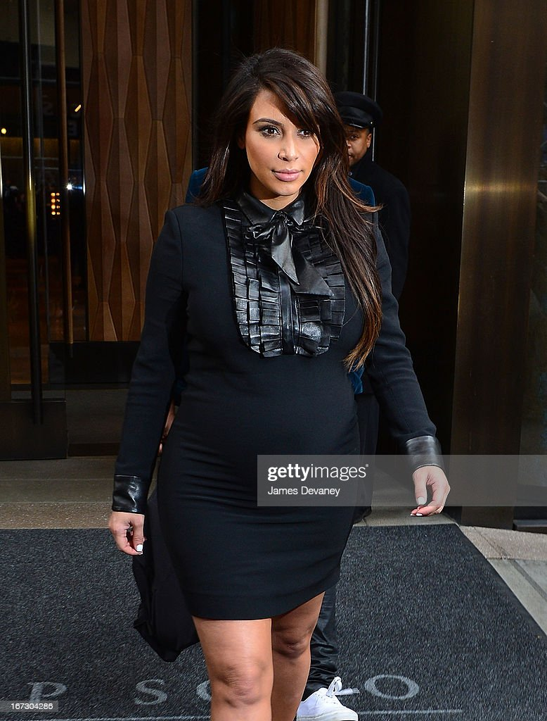 Kim Kardashian seen on the streets of Manhattan on April 23, 2013 in New York City.