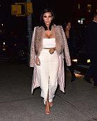 Kim Kardashian seen on the streets of Manhattan on February 10 2015 in New York City