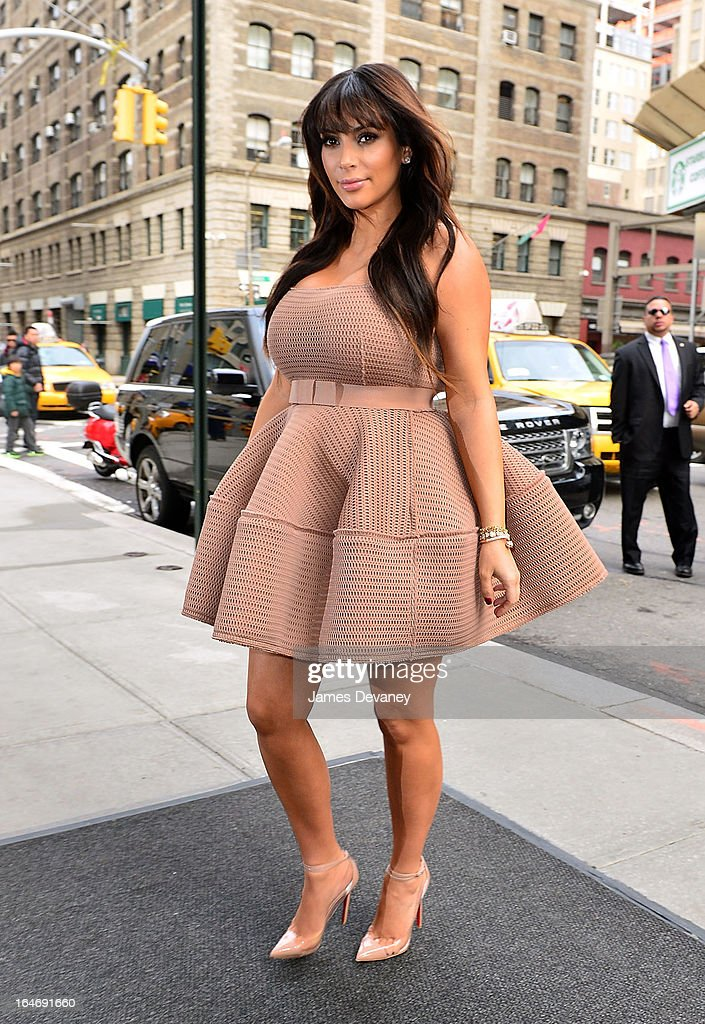 Kim Kardashian seen on the streets of Manhattan on March 26, 2013 in New York City.