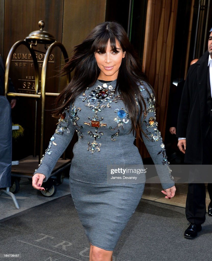 Kim Kardashian seen on the streets of Manhattan on March 27, 2013 in New York City.
