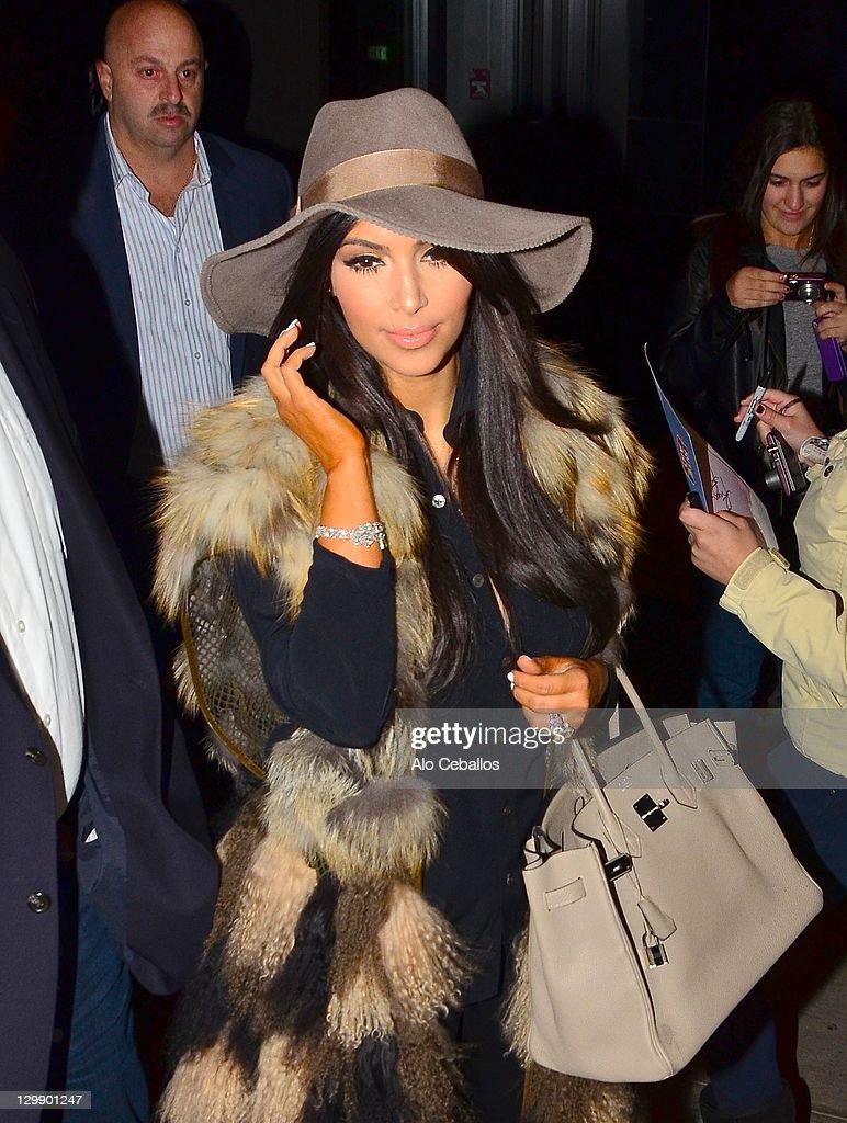 Kim Kardashian sighting on October 21 2011 in New York City