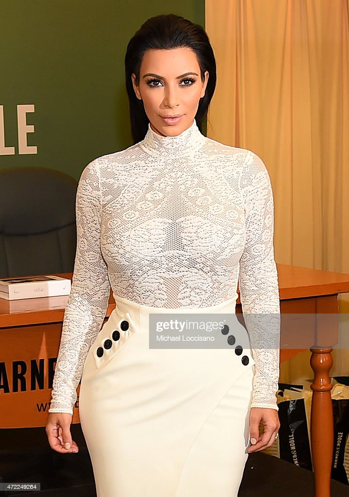 Kim Kardashian signs copies of her new book 'Kim Kardashian West: Selfish' at Barnes & Noble, 5th Avenue on May 5, 2015 in New York City.