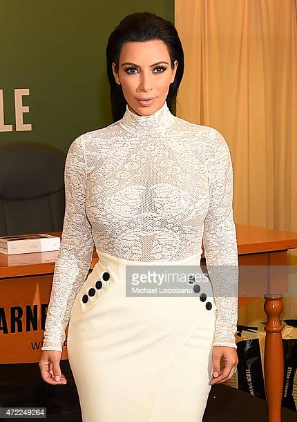 Kim Kardashian signs copies of her new book 'Kim Kardashian West Selfish' at Barnes Noble 5th Avenue on May 5 2015 in New York City