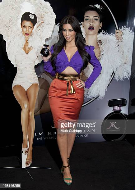 Kim Kardashian Us Model Reality Star And Trend Setter Makes Her First Uk Public Appearance For The Launch Of Her Debut Fragrance Aptly Named Kim...