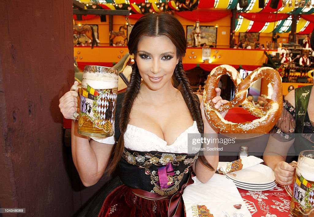 Kim Kardashian visits the Oktoberfest 2010 at the Hippodrom tent at Theresienwiese during her Munich visit on September 22 2010 in Munich Germany