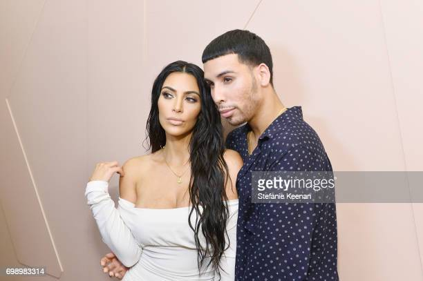 Kim Kardashian West and Ariel Tejada celebrate The Launch Of KKW Beauty on June 20 2017 in Los Angeles California