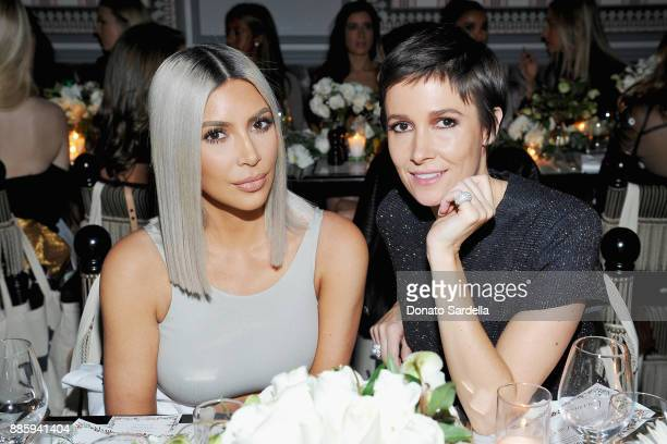 Kim Kardashian West and Cassandra Grey attend The Tot holiday popup celebration at Laduree at the Grove on December 4 2017 in Los Angeles California