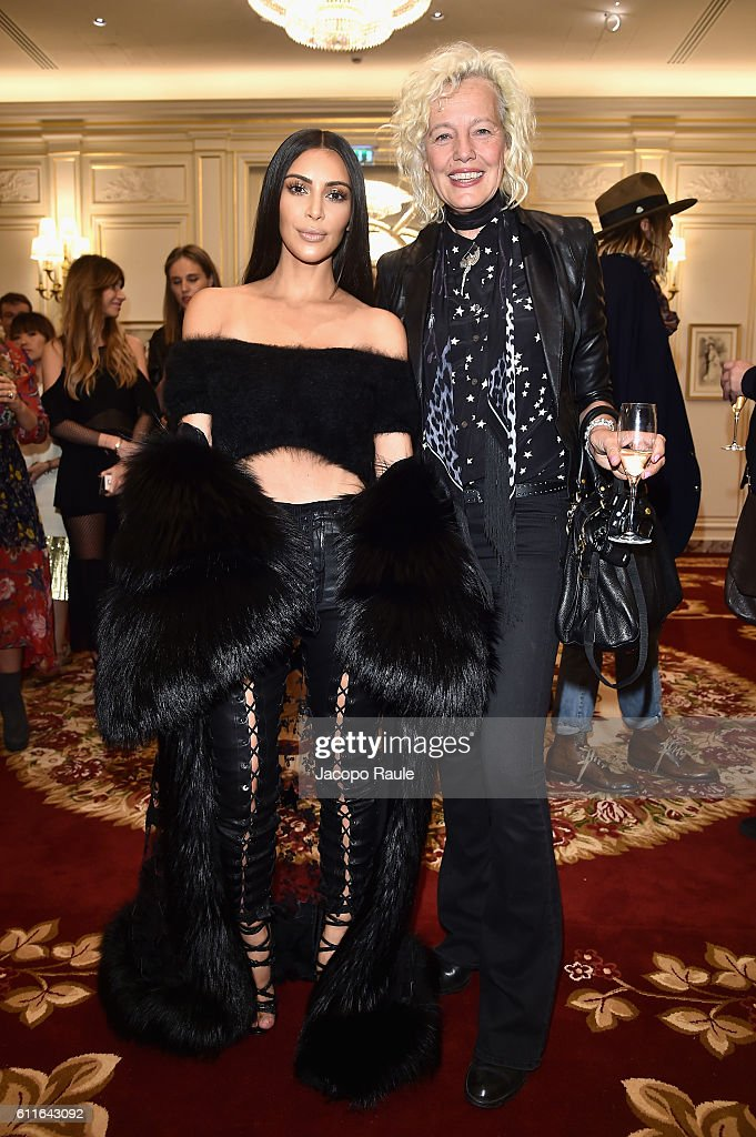 Kim Kardashian West and Ellen von Unwerth attend Buro 24/7 Fashion Forward Initiative as part of Paris Fashion Week Womenswear Spring/Summer 2016 at Hotel Ritz on September 30, 2016 in Paris, France.