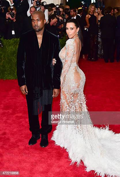 Kim Kardashian West and Kanye West attend the 'China Through The Looking Glass' Costume Institute Benefit Gala at Metropolitan Museum of Art on May 4...