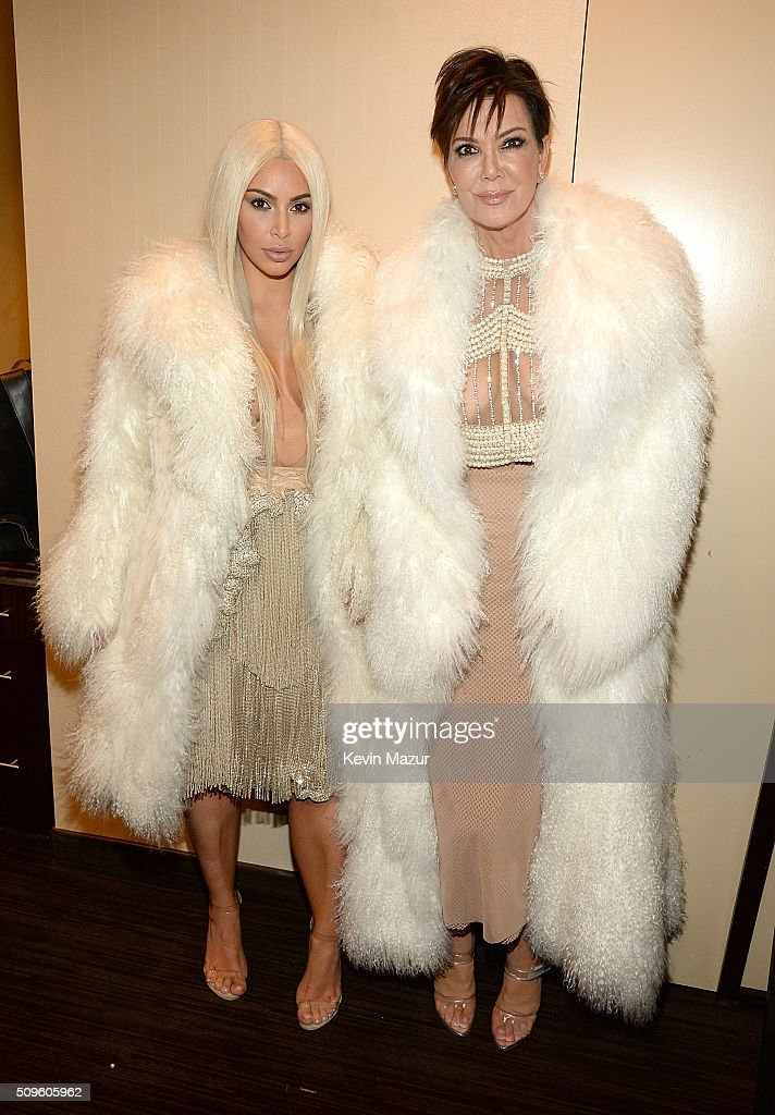 Kim Kardashian West and Kris Jenner attend Kanye West Yeezy Season 3 at Madison Square Garden on February 11, 2016 in New York City.
