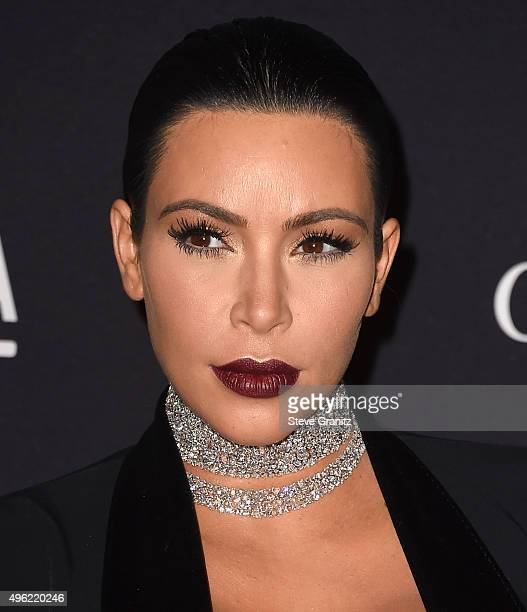Kim Kardashian West arrive at the LACMA 2015 ArtFilm Gala Honoring James Turrell And Alejandro G Inarritu Presented By Gucci at LACMA on November 7...