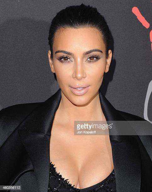 Kim Kardashian West arrives at Rihanna's First Annual Diamond Ball at The Vineyard on December 11 2014 in Beverly Hills California