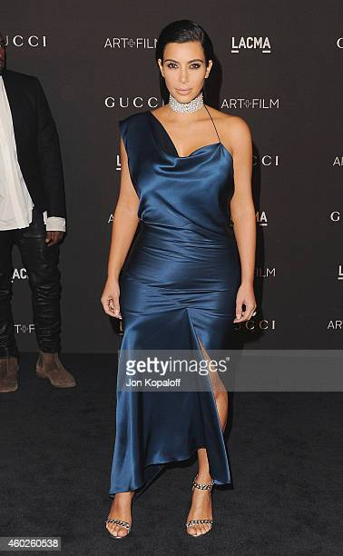 Kim Kardashian West arrives at the 2014 LACMA Art Film Gala Honoring Quentin Tarantino And Barbara Kruger at LACMA on November 1 2014 in Los Angeles...