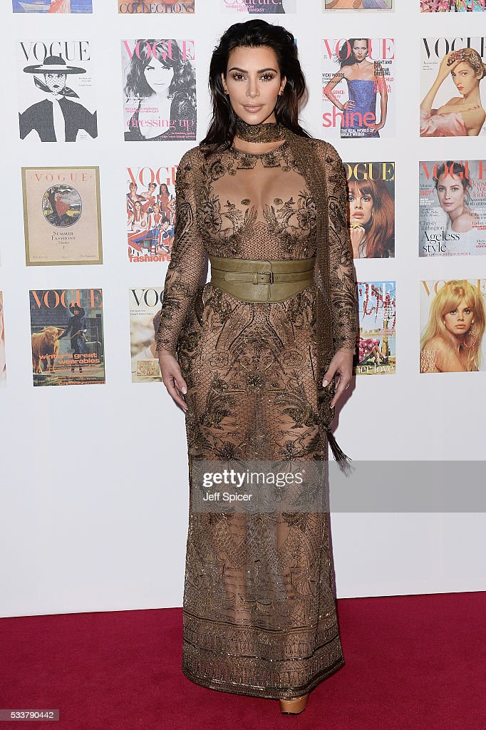 <a gi-track='captionPersonalityLinkClicked' href=/galleries/search?phrase=Kim+Kardashian&family=editorial&specificpeople=753387 ng-click='$event.stopPropagation()'>Kim Kardashian</a> West arrives for the Gala to celebrate the Vogue 100 Festival at Kensington Gardens on May 23, 2016 in London, England.