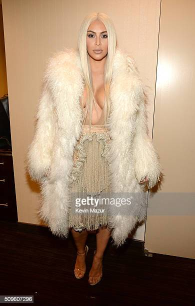 Kim Kardashian West attends Kanye West Yeezy Season 3 at Madison Square Garden on February 11 2016 in New York City